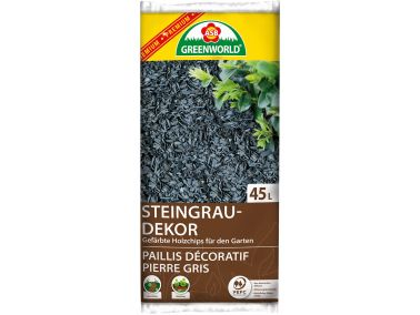 ASB Greenworld Premium Stone Gray Decorative Chips, 45 L