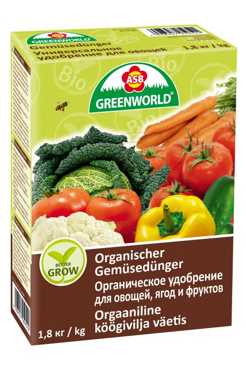 ASB Greenworld BetterGrow Tomaten- & Gemüsedünger, 1,8 kg