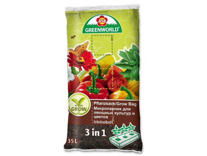 ASB Greenworld BetterGrow Grow Bag, 35 L