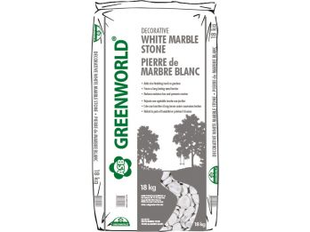 ASB Greenworld Decorative White Marble Stone, 18 kg/39 lbs.