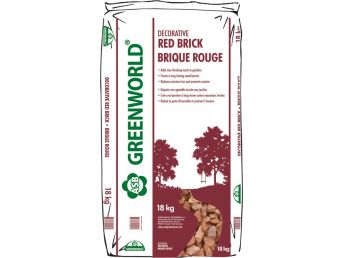 ASB Greenworld Decorative Red Brick,  18 kg/39 lbs.