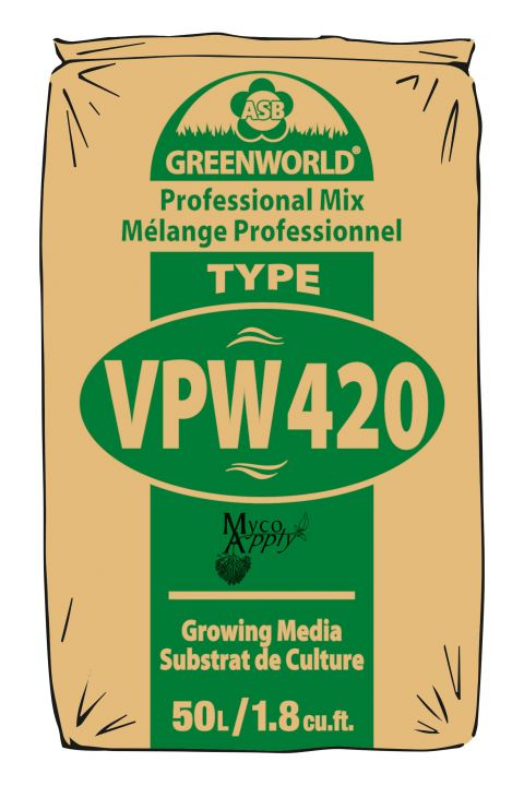 ASB Greenworld VPW420 + Myco,  50 L/45 qt./1.75 cu.ft.