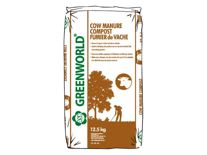 ASB Greenworld Cow Manure Compost,  12.5 kg/27.5 lbs.